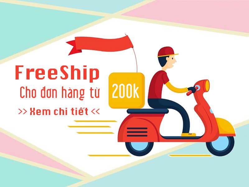 free ship đơn hàng hà nội